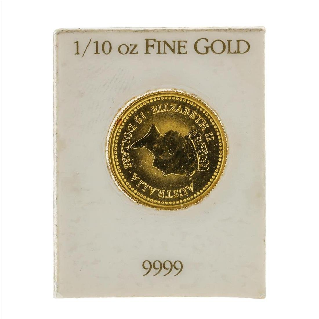 1987 $15 Australian Nugget 1/10 oz Gold Coin