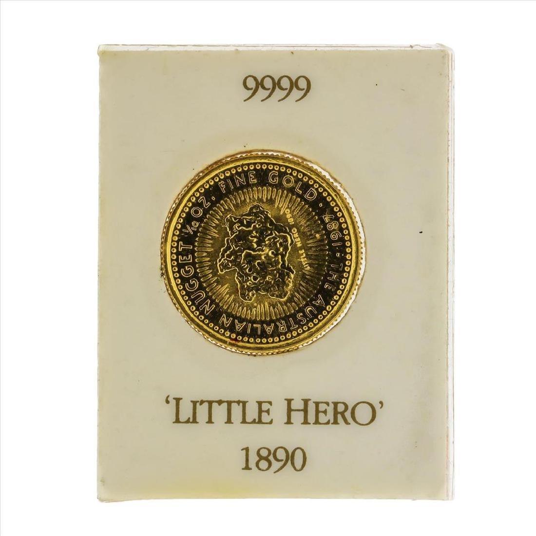 1987 $15 Australian Nugget 1/10 oz Gold Coin - 2