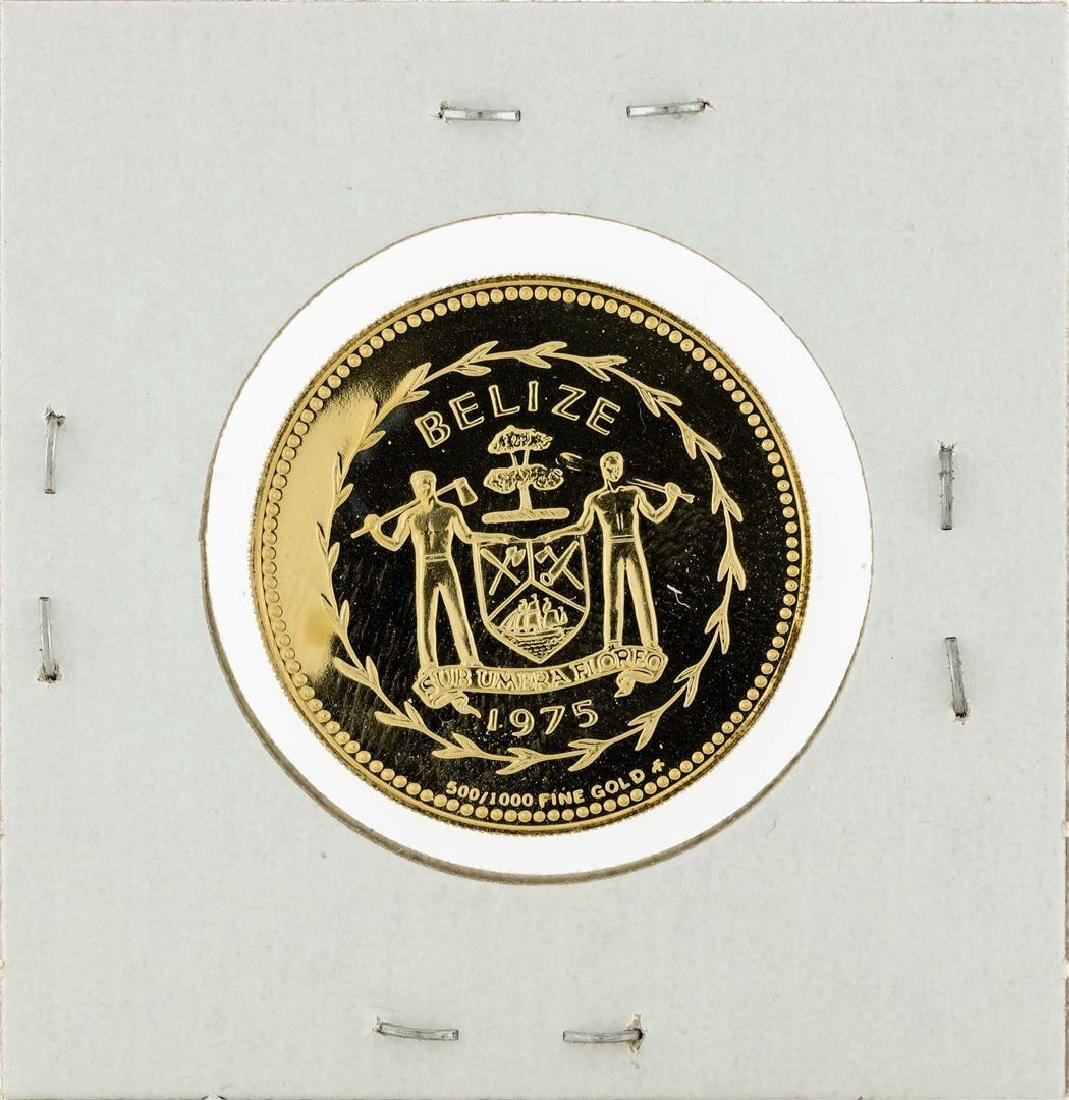 1975 Belize $100 Gold Coin - 2