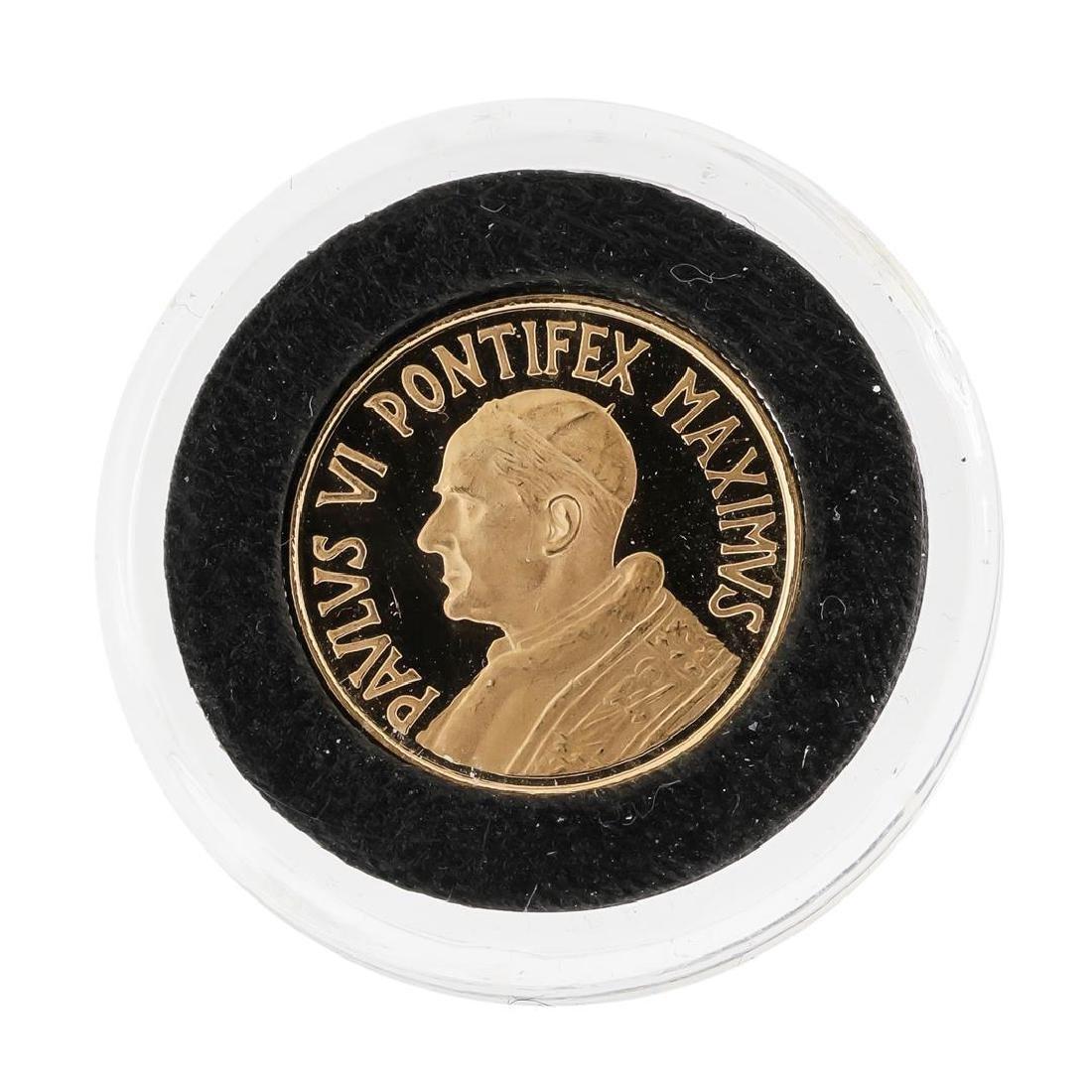 1966 Vatican Pope Paul VI 18K Gold Coin