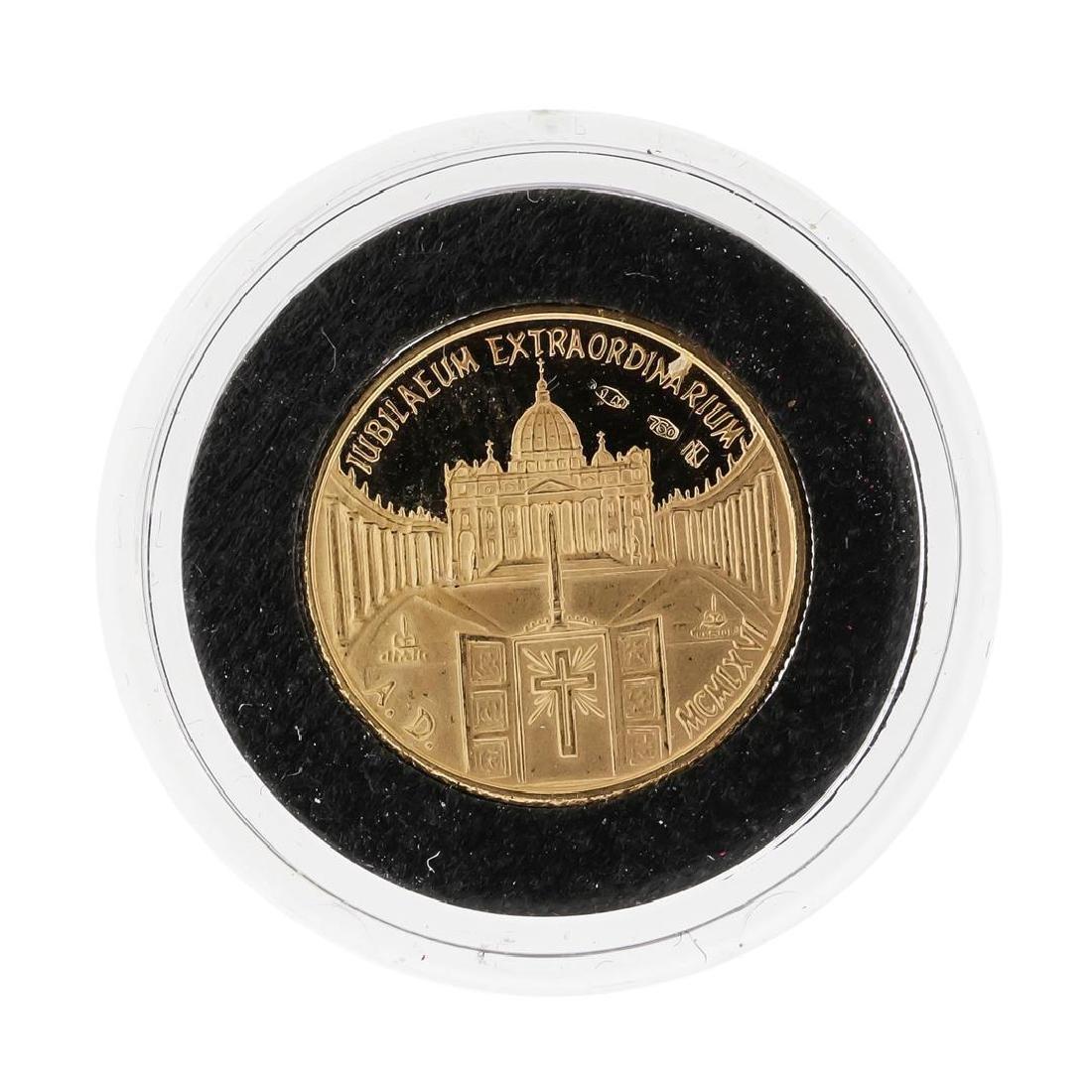 1966 Vatican Pope Paul VI 18K Gold Coin - 2