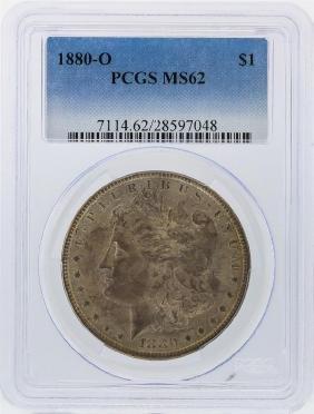 1880-O $1 Morgan Silver Dollar Coin PCGS Graded MS62
