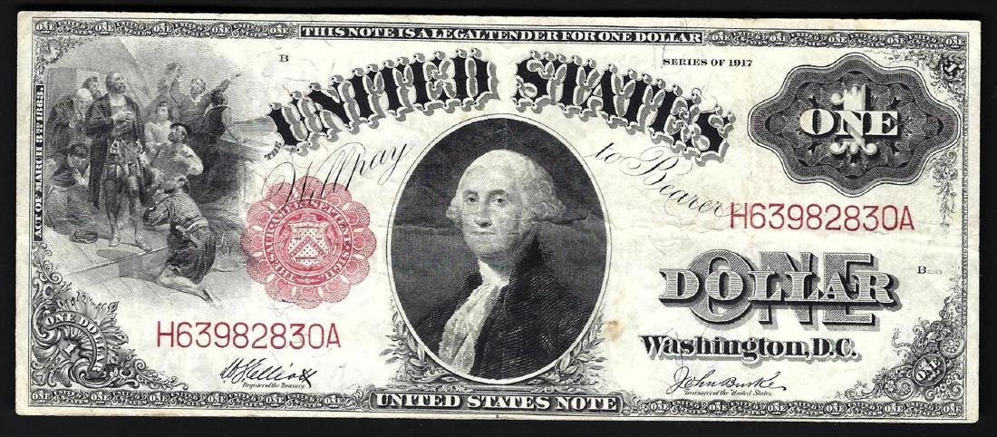 1917 $1 Large Size Legal Tender Note