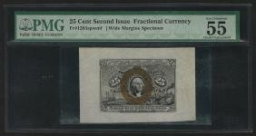 25 Cent Second Issue Fractional Currency Note Wide