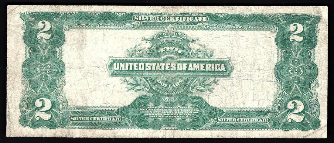 1899 $2 Mini Porthole Silver Certificate Note - 2