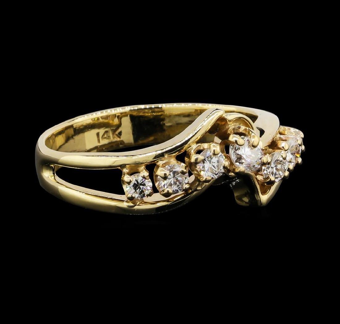 14KT Yellow Gold 0.50ctw Diamond Ring - 2