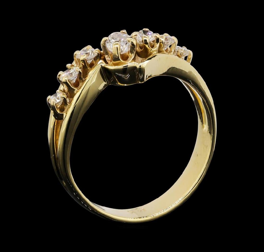 14KT Yellow Gold 0.50ctw Diamond Ring - 4