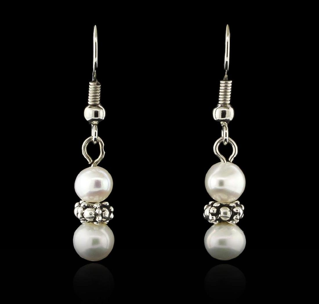 Cultured White Pearl Necklace, Bracelet and Earring Set - 5