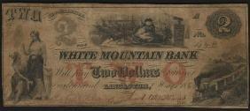 1860 $2 Lancaster, NH White Mountain Bank Santa Claus