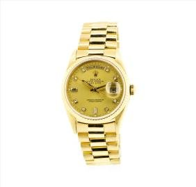 Rolex Mens President 18KT Yellow Gold Double Quickset