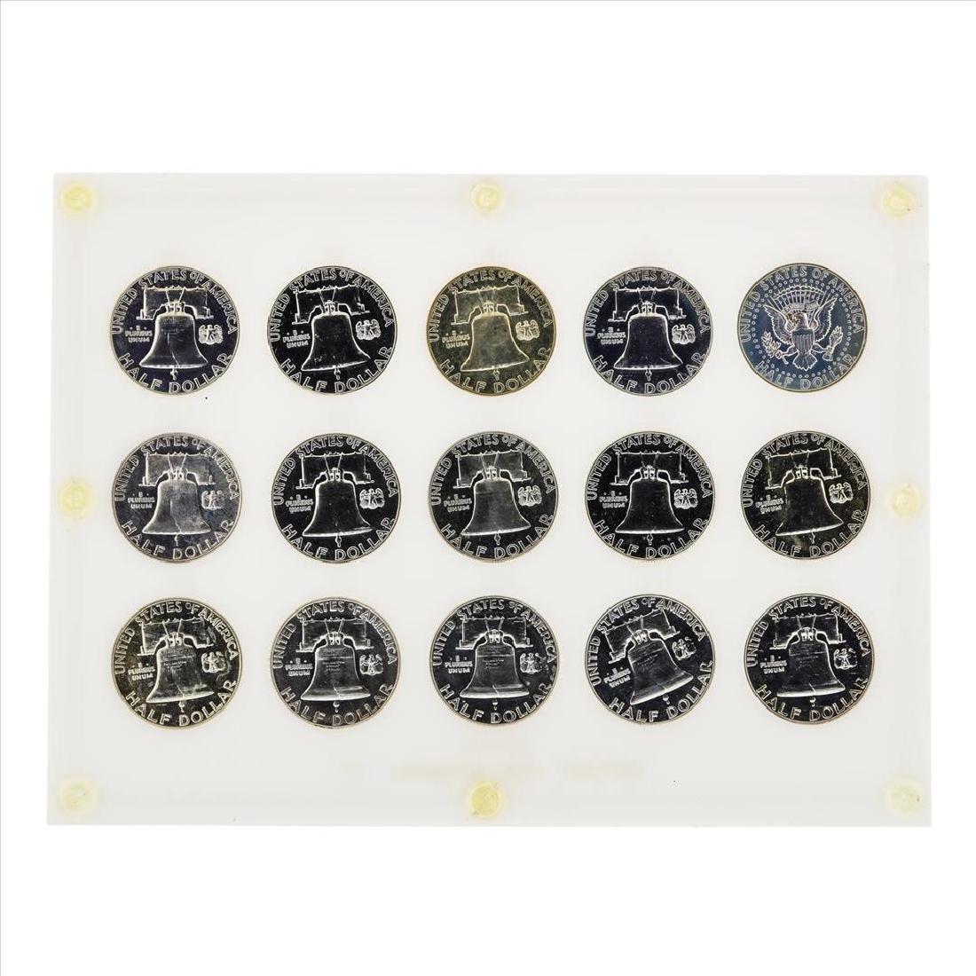 1950-1964 Franklin Half Dollar Proof Set Coins - 2