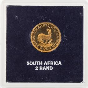 1975 South Africa 2 Rand Gold Coin