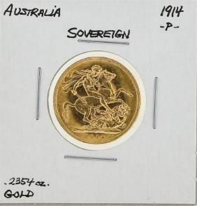 1914-P Australia Sovereign Gold Coin