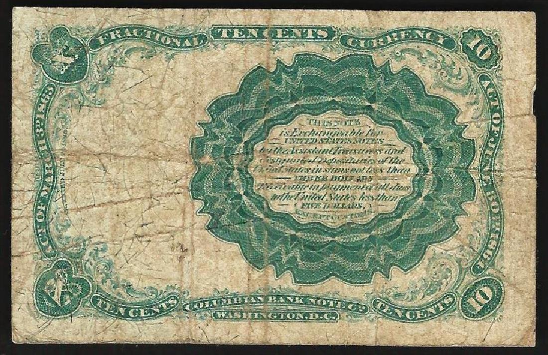 1874 Ten Cents Fifth Issue Fractional Note - 2