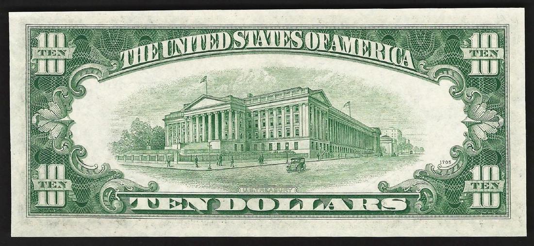 1953B $10 Silver Certificate Note - 2