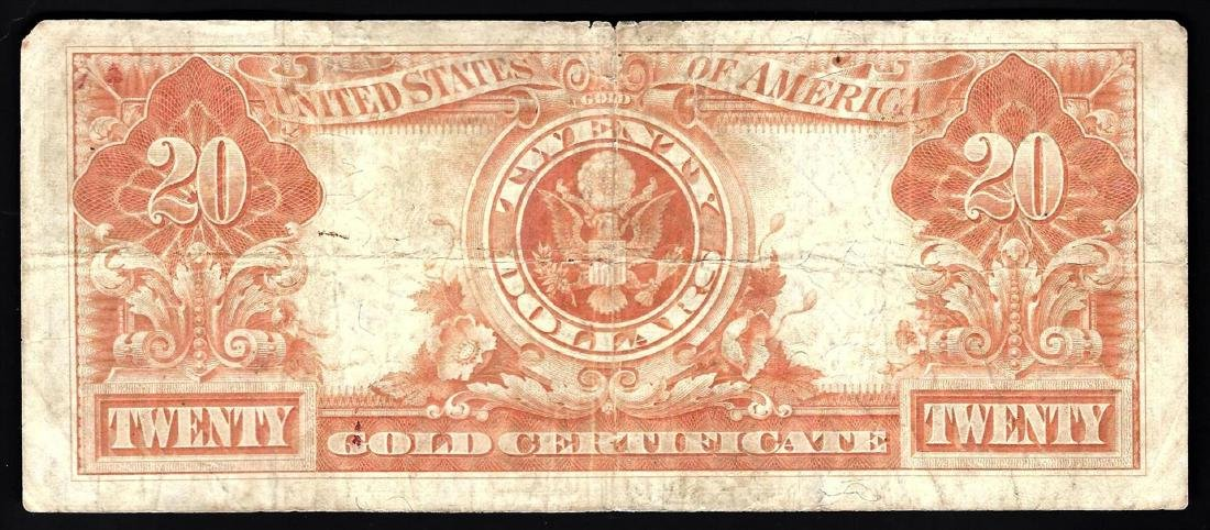 1922 $20 Large Size Gold Certificate Note - 2