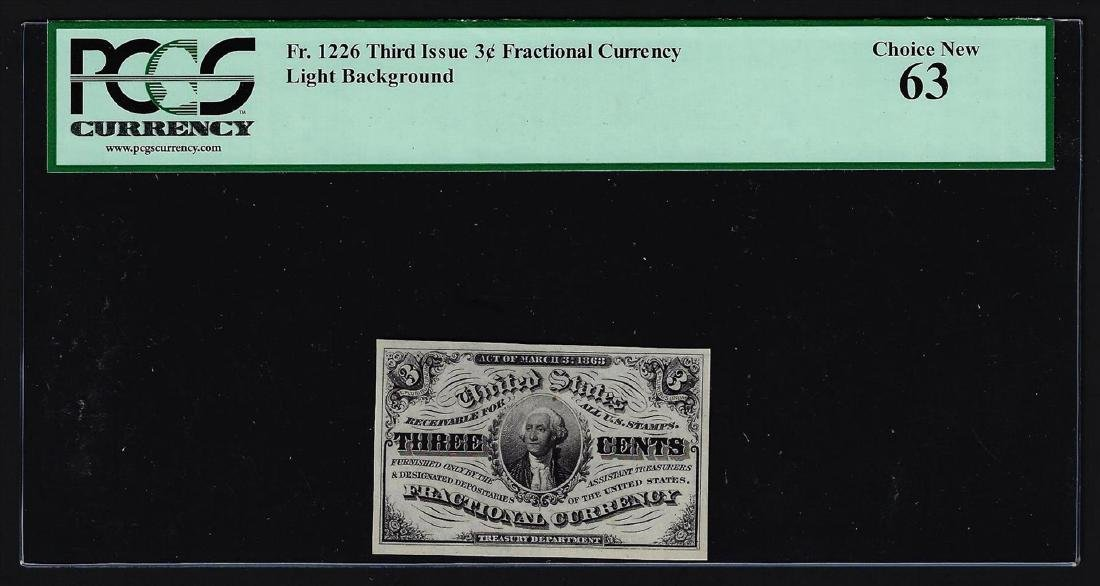 1863 Three Cents Third Issue Fractional Currency Note