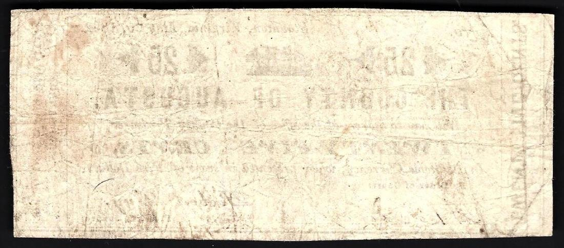 1862 25 Cents The County of Augusta Note - 2