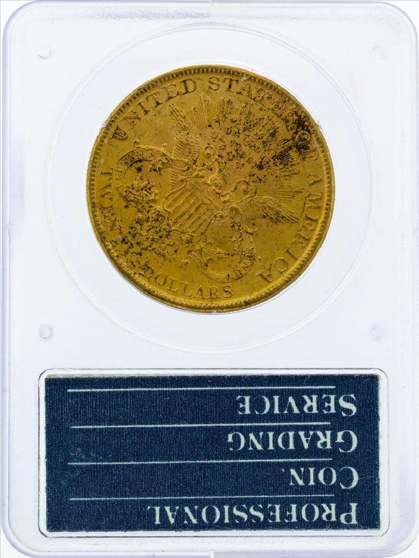 1897 $20 Liberty Head Double Eagle Gold Coin PCGS MS61 - 2