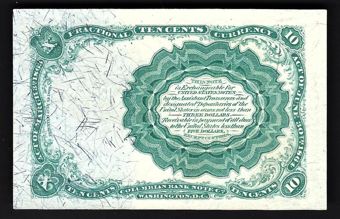 1874 10 Cent 5th Issue Fractional Note - 2