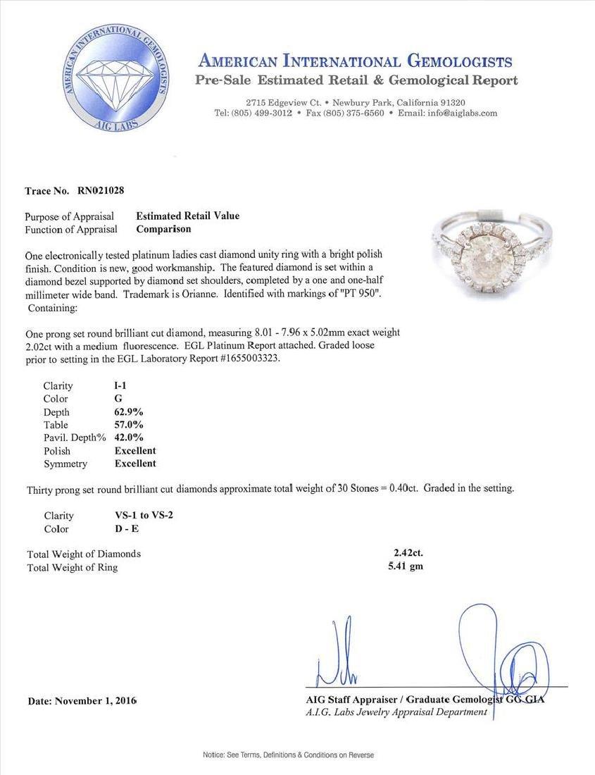 Platinum 2.42ctw Diamond Ring - 5