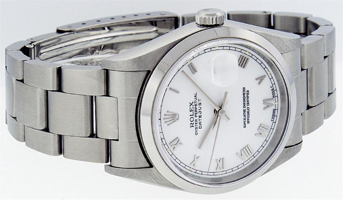Rolex Mens Stainless Steel DateJust Wristwatch - 4