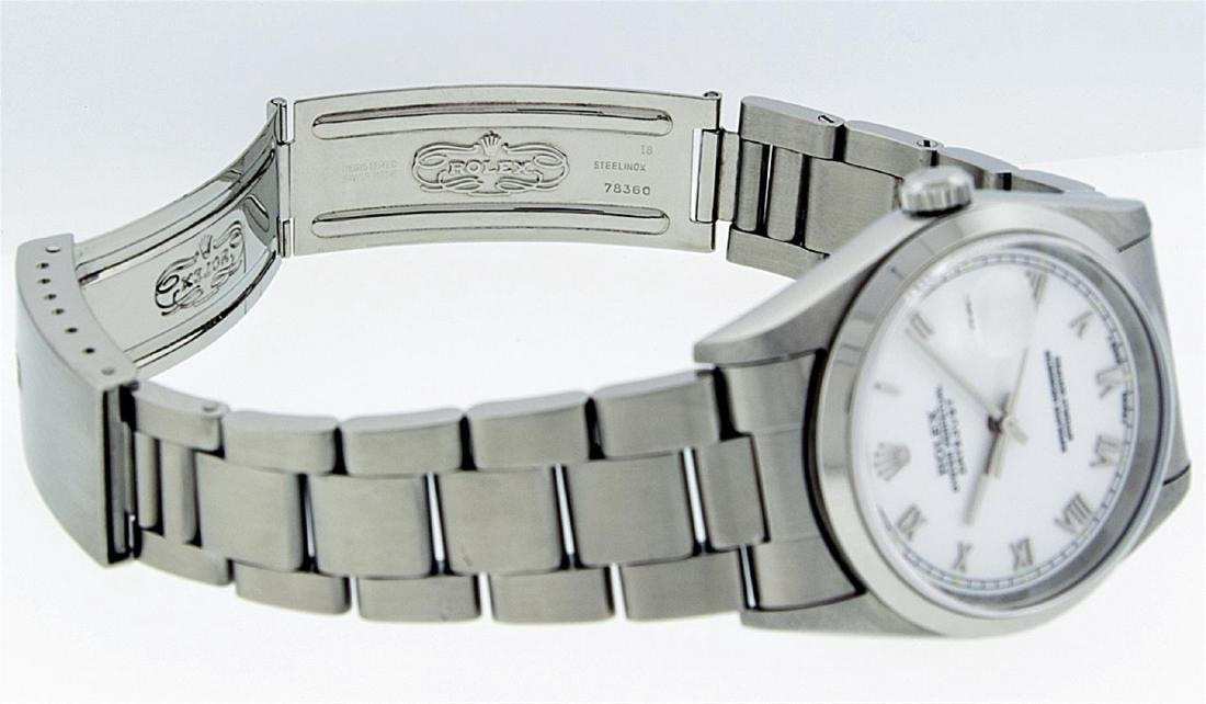 Rolex Mens Stainless Steel DateJust Wristwatch - 7