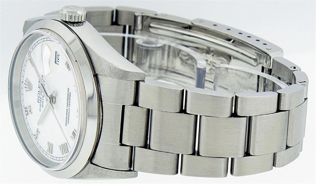 Rolex Mens Stainless Steel DateJust Wristwatch - 9