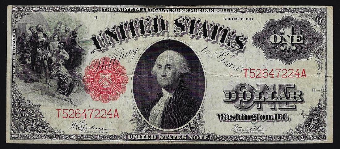 1917 $1 Legal Tender Bank Note