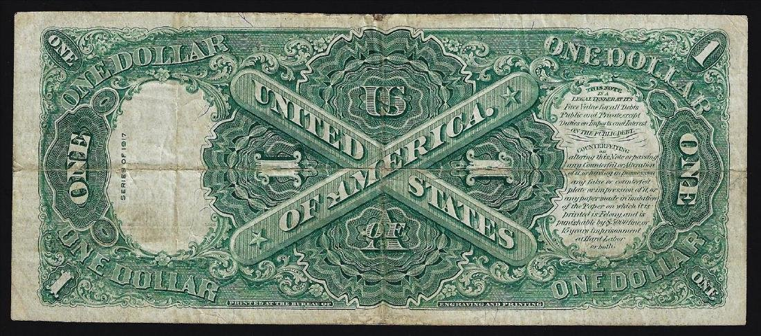 1917 $1 Legal Tender Bank Note - 2