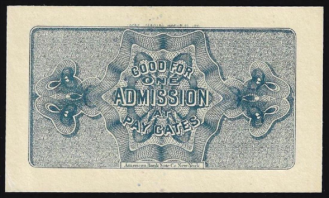 1893 World's Columbian Exposition Ticket - 2