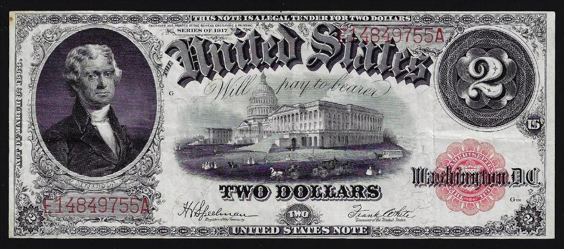1917 $2 Large Size Legal Tender Note