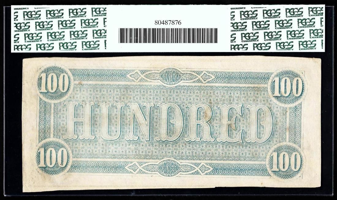 1864 $100 The Confederate States of America Note PCGS - 2