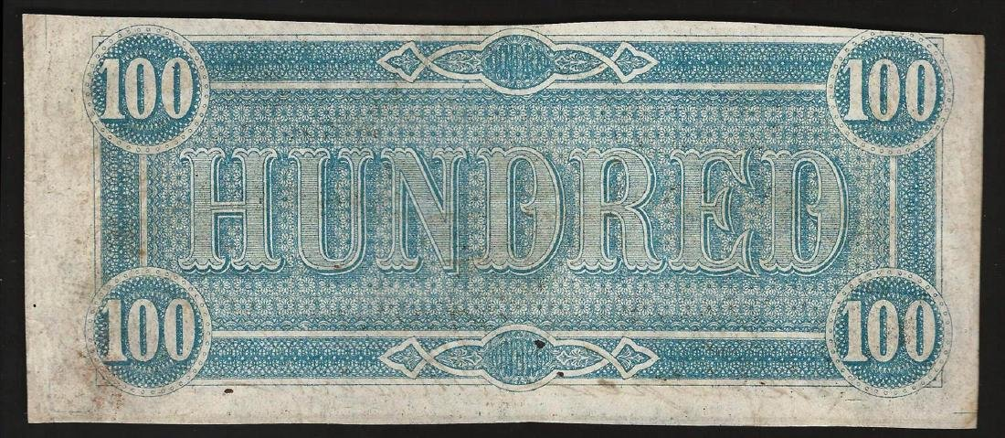 1864 $100 The Confederate States of America Note - 2
