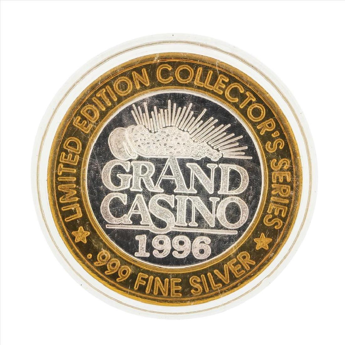 .999 Silver Grand Casino $10 Casino Gaming Token