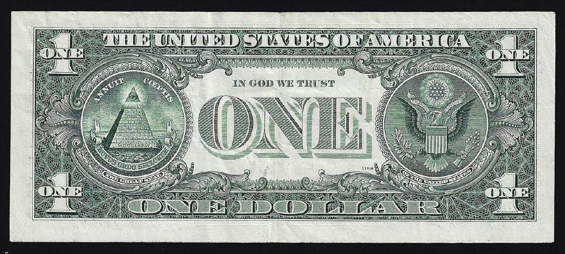1969 $1 Federal Reserve Note ERROR Full Front to Back - 2