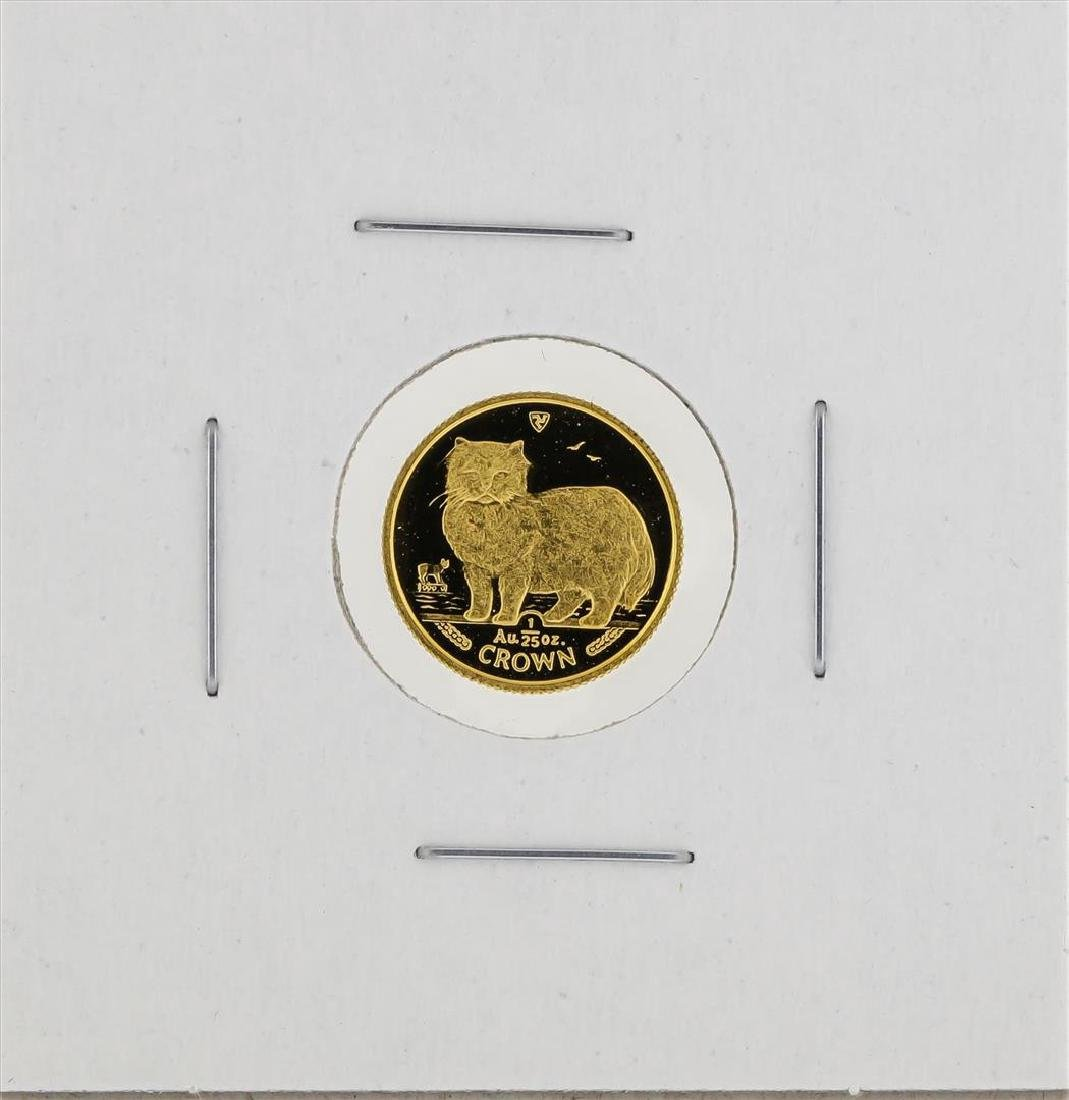 1989 1/25 oz Crown Isle of Man Gold Coin