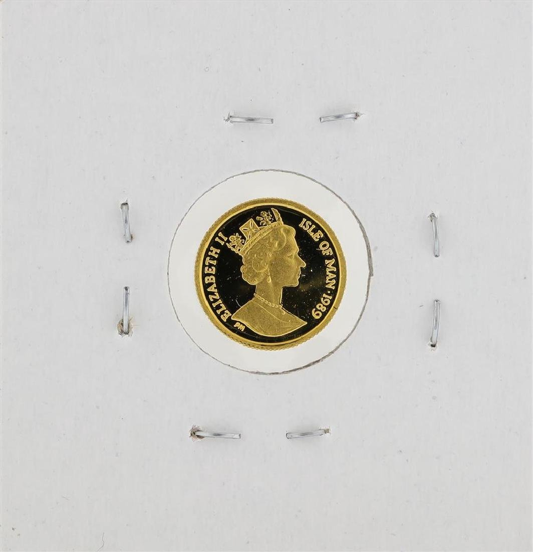 1989 1/25 oz Crown Isle of Man Gold Coin - 2