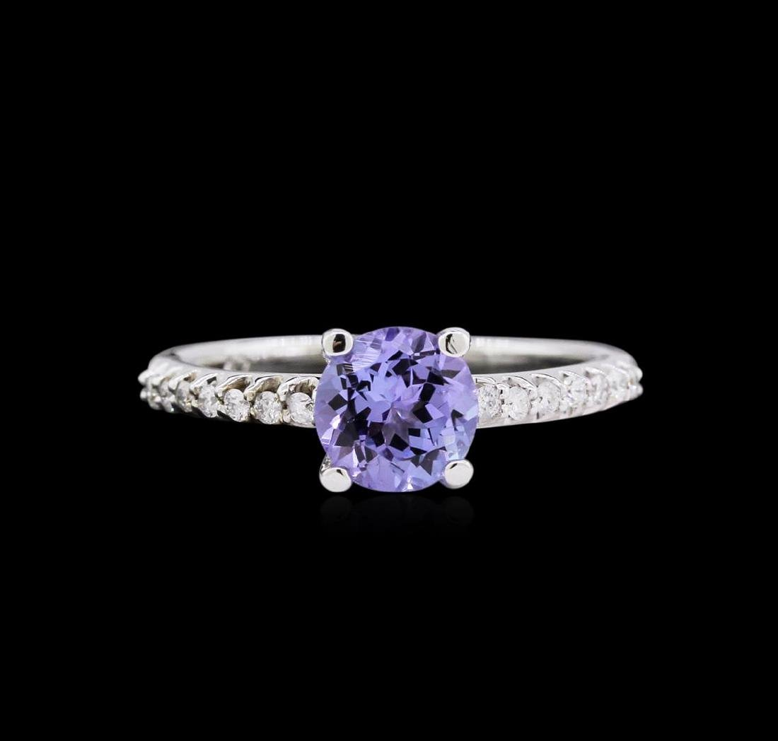 14KT White Gold 1.30ct Tanzanite and Diamond Ring