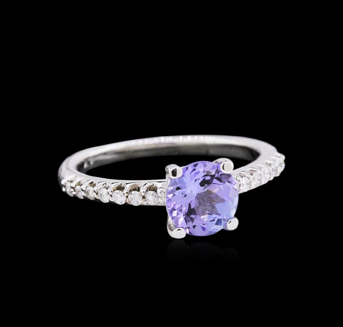 14KT White Gold 1.30ct Tanzanite and Diamond Ring - 2