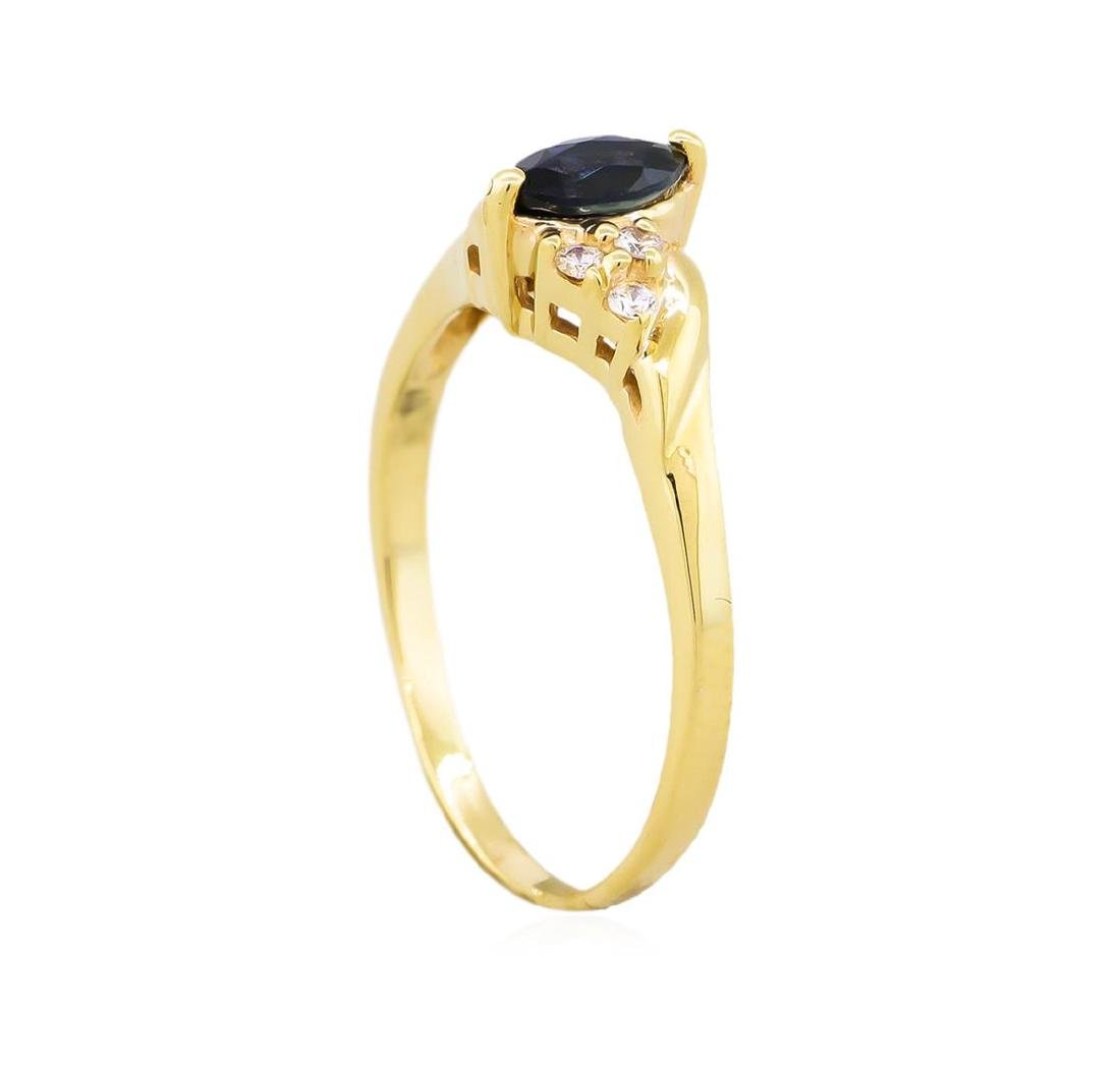 14KT Yellow Gold .50ct Marquise Sapphire and Diamond - 3