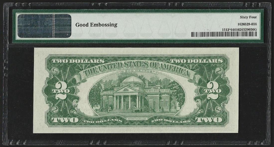 1963 $2 Legal Tender Note STAR PMG Choice Uncirculated - 2