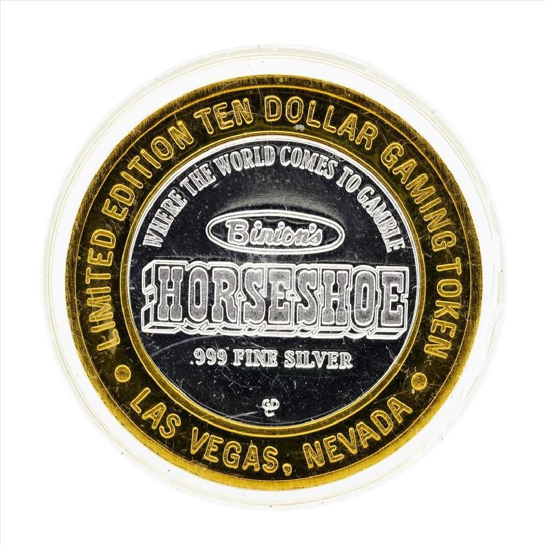 .999 Silver Binions Horseshoe Las Vegas $10 Casino