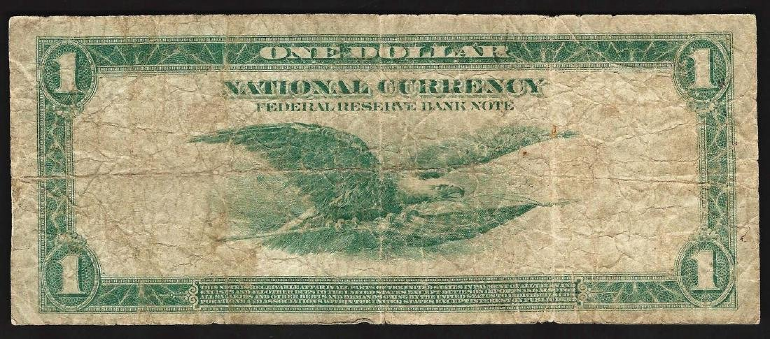 1918 $1 Federal Reserve Bank Note Chicago National - 2