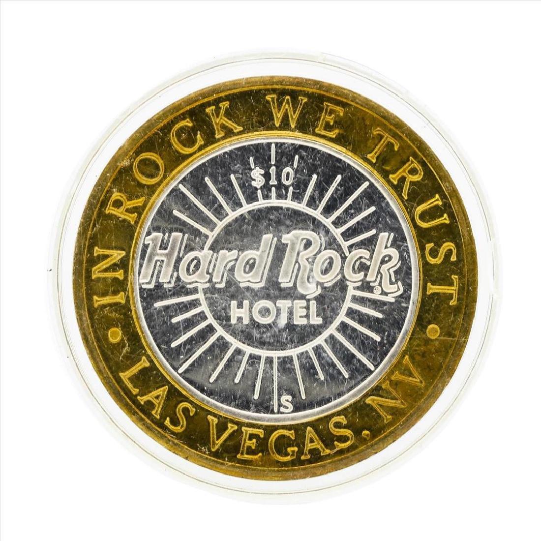 .999 Silver Hard Rock Hotel $10 Casino Gaming Token