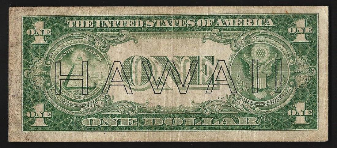 1935A $1 Silver Certificate Emergency Hawaii Note - 2