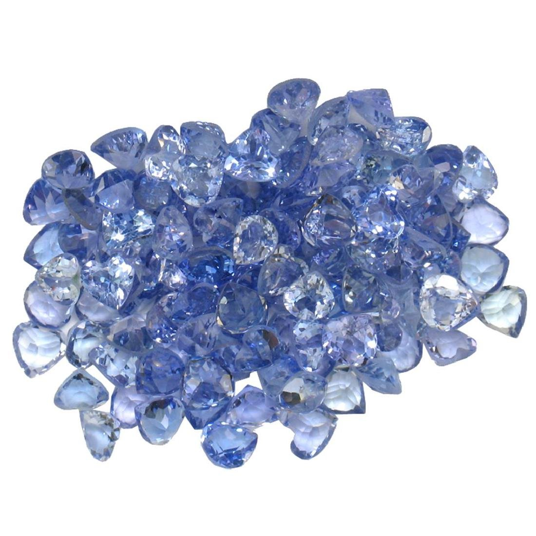13.84ctw Round Mixed Tanzanite Parcel