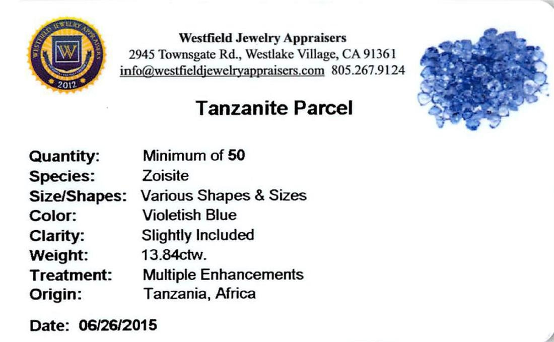 13.84ctw Round Mixed Tanzanite Parcel - 2