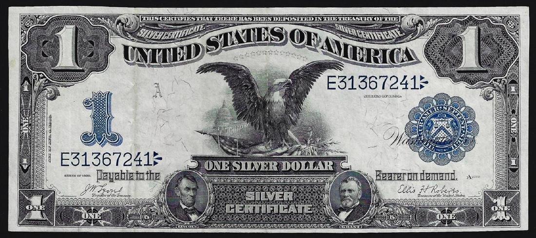 1899 $1 Black Eagle Silver Certificate Note