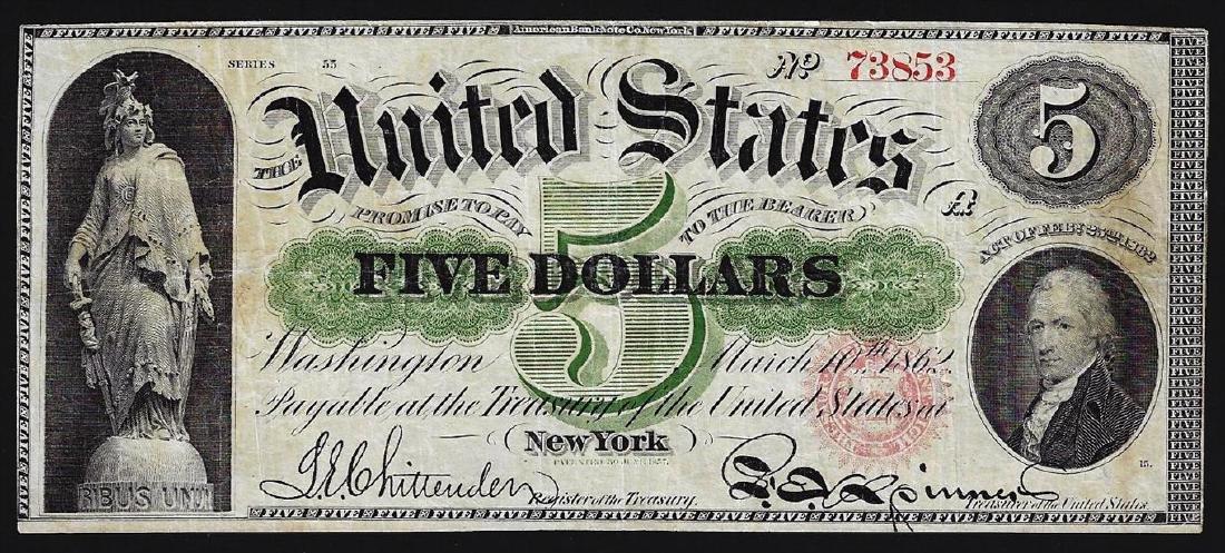 1862 $5 Legal Tender Note